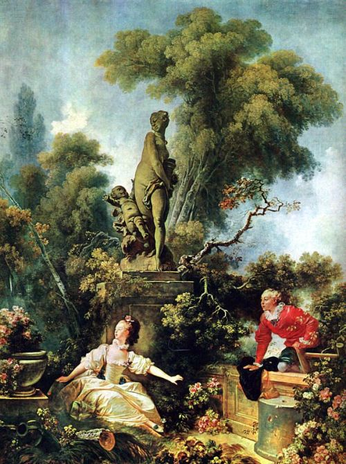 Fragonard - The Secret Meeting, 1771, (former collection of Madame Du Barry), Frick Collection, New York