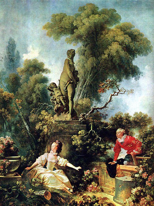 Fragonard - The Secret Meeting, 1771, (former collection of Madame Du Barry), Frick Collection, New York