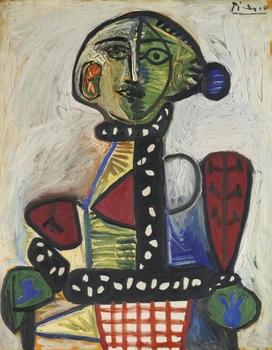 Femme au chignon dans un fauteuil (1948) - Pablo Picasso