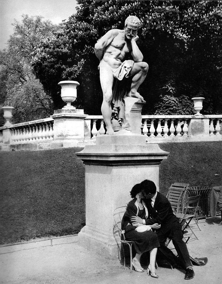 René Maltête (1930 - 2000) 'The Garden of Luxembourg', Paris, 1960