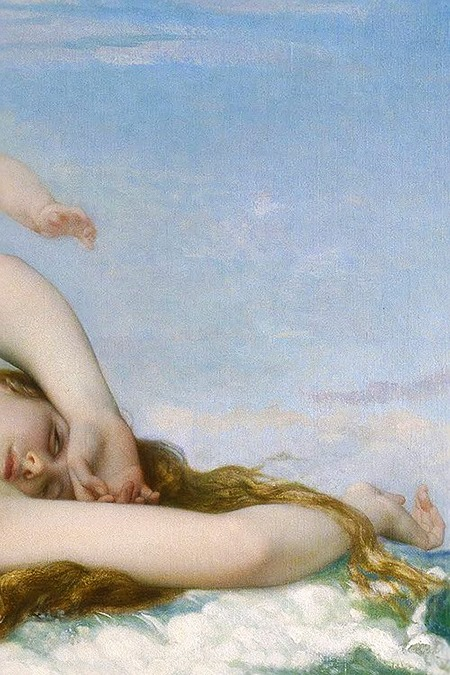 The Birth of Venus, detail, by Alexandre Cabanel, 1863