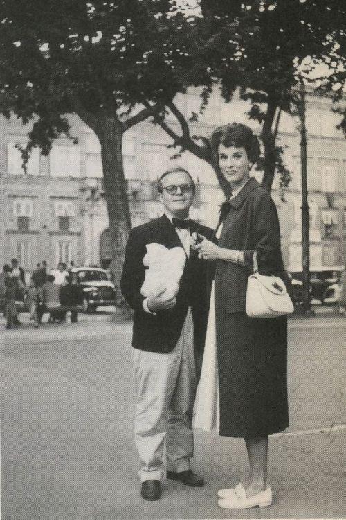 Truman Capote and Barbara Babe Paley in Paris, 1959